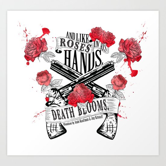 Illuminae - Death Blooms Art Print