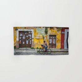 Antigua by bicycle Hand & Bath Towel
