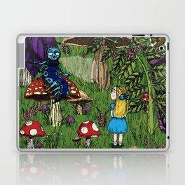 Alice and the caterpillar Laptop & iPad Skin