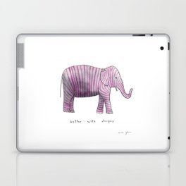 better with stripes Laptop & iPad Skin