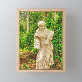 Lady in the garden Framed Mini Art Print