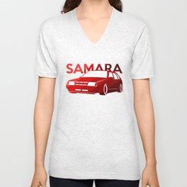 Lada Samara - classic red - Unisex V-Neck