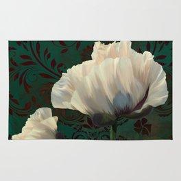 Poppies en Verdigris Rug