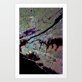 New York City from Space Art Print