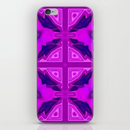 Softly lilac ornamentation iPhone Skin