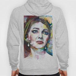 MARIA CALLAS - watercolor portrait .8 Hoody