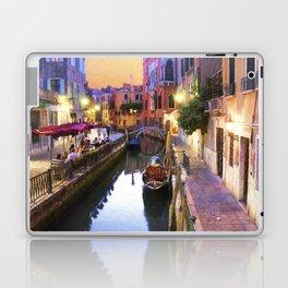 Sunset Alley In Venice Italy Laptop & iPad Skin