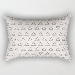 Modern hand painted black fair pink geometric triangles Rectangular Pillow