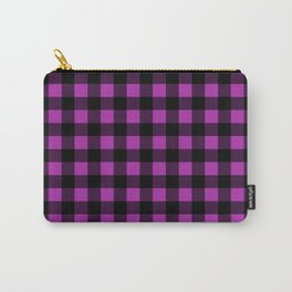 Plaid (Black & Purple Pattern) Carry-All Pouch