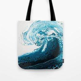 Ocean Wave Acrylic Pour Tote Bag