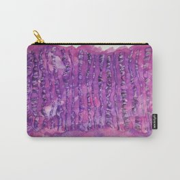 Deep Purple Abstract Aspen Tree Watercolor Painting Carry-All Pouch