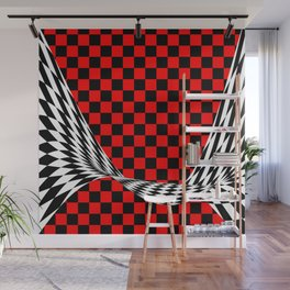 Schwarz rot weiss Wall Mural