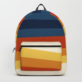 Bright 70's Retro Stripes Backpack