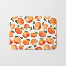 Watercolor tangerines Bath Mat