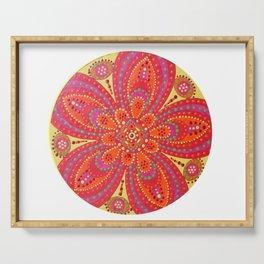 Flower Mandala Serving Tray