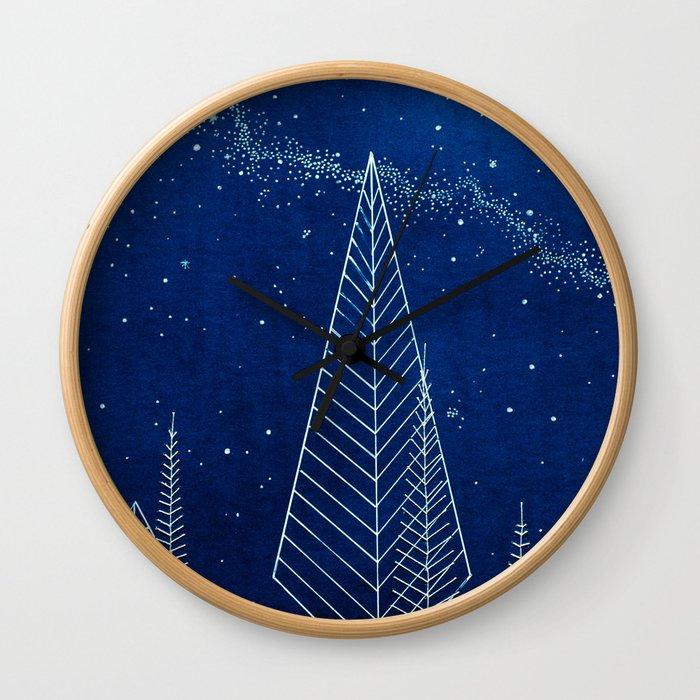 Celestial Trees Wall Clock