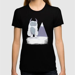 Yeti in the Mountains - Blue T-shirt