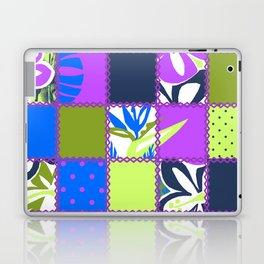 Pokii Hawaiian Hibiscus Flower and Patchwork Designs Laptop & iPad Skin
