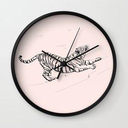Tiger and Sun I. Wall Clock