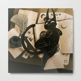 Playful Nito Metal Print