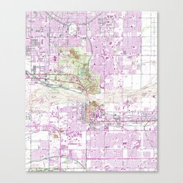 Vintage Map of Tempe Arizona (1952) Canvas Print