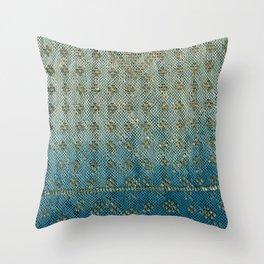 Faded Indigo Assuit Throw Pillow