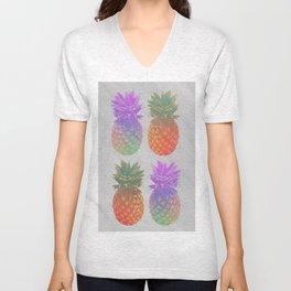 4 Pineapples Unisex V-Neck