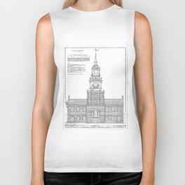 Independence Hall Blueprint Schematics Biker Tank