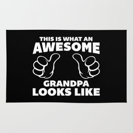 Awesome Grandpa Looks Like Quote Rug