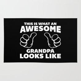 Awesome Grandpa Looks Like Quote Rug