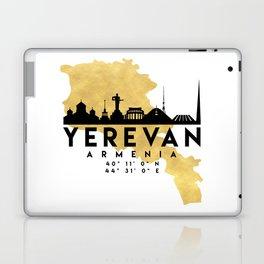 YEREVAN ARMENIA SILHOUETTE SKYLINE MAP ART Laptop & iPad Skin