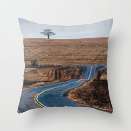 Before the Green Throw Pillow