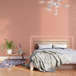 Simply Sweet Peach Coral Wallpaper