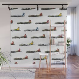 Classic B-17 Flying Fortress Continuous Pattern Wall Mural