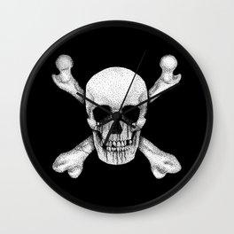 Jolly Roger Pirate Skull Flag Wall Clock