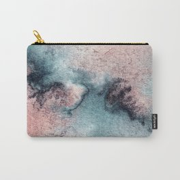 Pink and Blue Oasis Carry-All Pouch