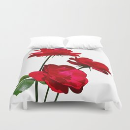 Roses are red, really red! Duvet Cover