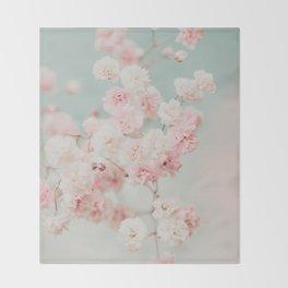 Gypsophila pink blush ll Throw Blanket