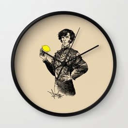 Sherlock - Not Sure if the Lemon is in Play?! Wall Clock