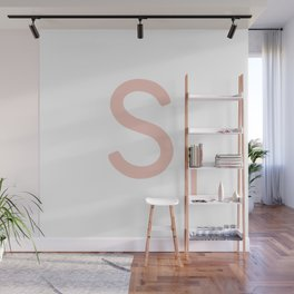 Pink Scrabble Letter S - Scrabble Tile Art and Accessories Wall Mural