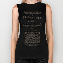Shakespeare. A midsummer night's dream, 1600 Biker Tank