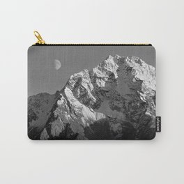 Moon Over Pioneer Peak B&W Carry-All Pouch
