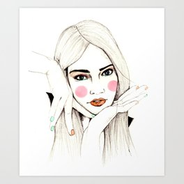 Beauty Portrait 3 Art Print