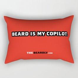 BEARD IS MY COPILOT.  Rectangular Pillow