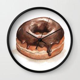 Chocolate Glazed Donut Wall Clock