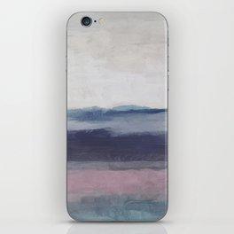 Plum Purple Navy Lavender Blue Abstract Painting Wall Art Prints, Ocean Waves Horizon, Modern Wall iPhone Skin