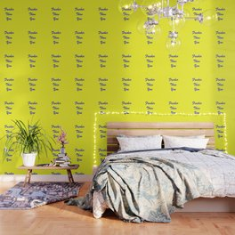 fresher THAN you Yellow & Blue Wallpaper