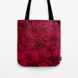 Vintage black gray red bohemian floral pattern Tote Bag