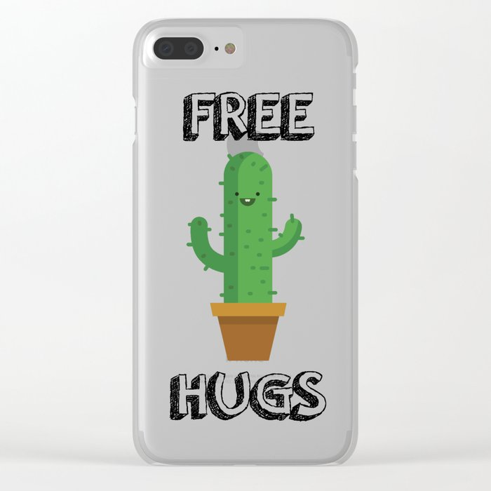 Free Hugs for All! Clear iPhone Case