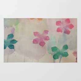 watercolour flowers Rug